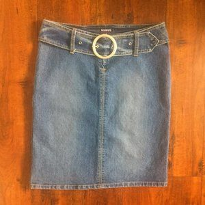 BONGO Knee-Length Denim Skirt